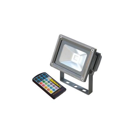 Proyector exterior de LED 10 W multicolor con control remoto